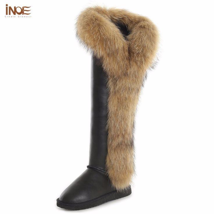 Купить товарИНОЕ лисицы корова сплит кожа долгой зимы снега сапоги для женщины над коленом зимние ботинки сапоги до бедра, высокое качество водонепроницаемый в категории Снег Сапогина AliExpress.    История бренда      -------------------------------------------------------------------------------------------------