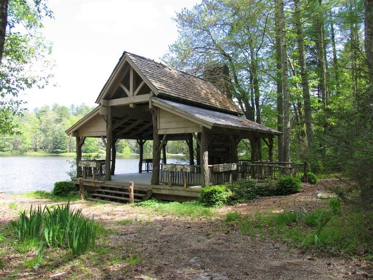 66 best rustic carport images on pinterest cottage for Outdoor kitchen pavilion designs