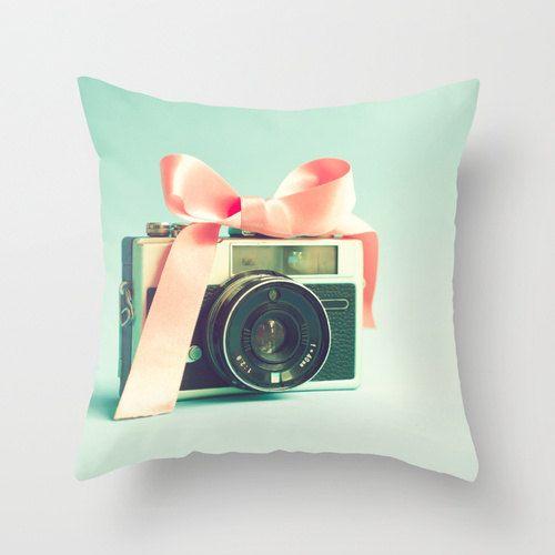 SALE, Pillow Cover, Pink Pillow, Turquoise Pillow, Aqua Pillow, Mint Pillow