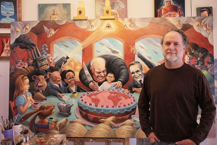 ENTREVISTA   Mark Bryan: La pintura contra Trump, el dictador, el demagogo, el lengua larga
