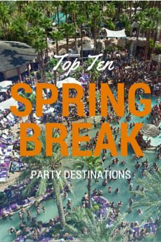 March is the unofficial month of spring break, which -- at least to hundreds of thousands of college students across the nation -- means it's a 30-day stretch of time dedicated to partying, preferably in exotic locales around the world. We've already given you the inside scoop on where to spend an awesome alternative spring break, but if you're looking to get the classic (read: raucous) spring break fix, here are the top ten spring break destinations for partying. Where to go: Cancun