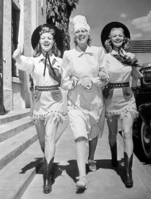 Betty Grable, Charlotte Greenwood, and Carole Landis ,