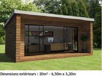 Extension maison bois design maisons bois pinterest for Maison bois design contemporain