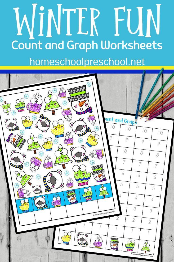 Winter Fun Count And Graph Worksheets Graphing Activities Math Activities Preschool Winter Preschool Printables [ 1102 x 735 Pixel ]