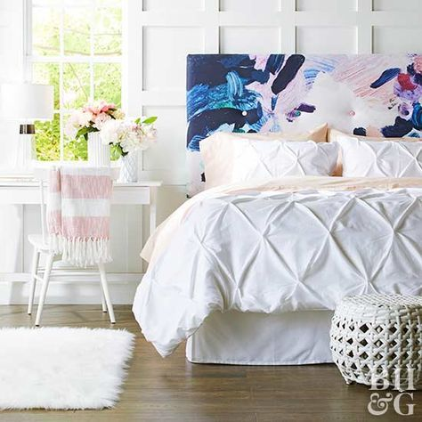 If you have big dreams for a bedroom makeover but don't have the big budget to match, try your hand at our DIY tufted headboard!