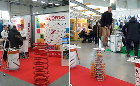 Our showcase at the exhibition Ka pasesi in Lithuania. Lesjöfors Springs LV is a leading manufacturer of springs and stampings in the Baltic states.
