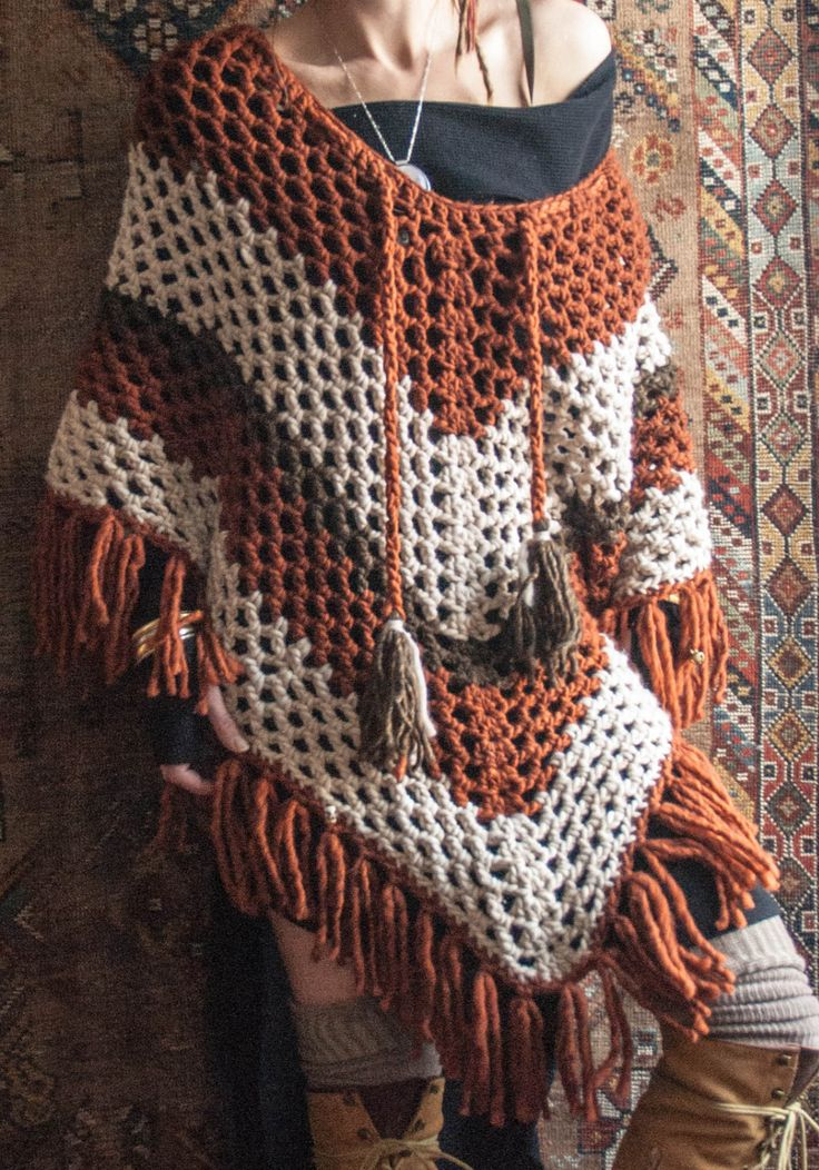 North Country Wool Poncho