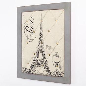parisian home paris eiffel tower framed memo board kohls. Black Bedroom Furniture Sets. Home Design Ideas