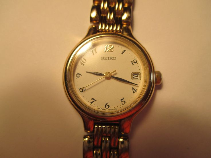 Women's seiko dress watch with,analog, date,easy to read ...