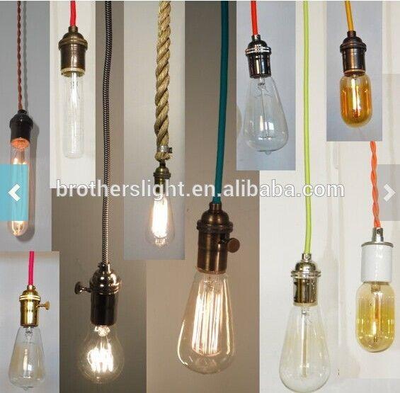 Personnalisé Pendentif Éclairage Industriel Vintage Edison Lampe ...