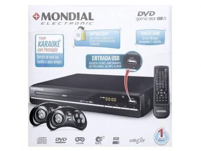DVD Player Mondial D-07 com Karaokê Ripping - USB com as melhores condições você…