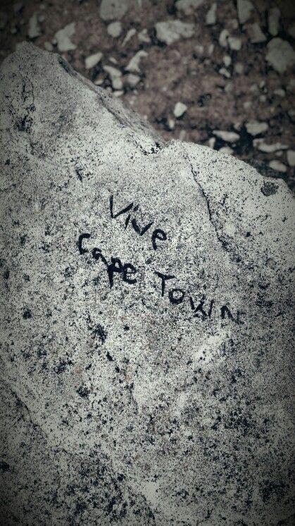Inscription on Table Mountain