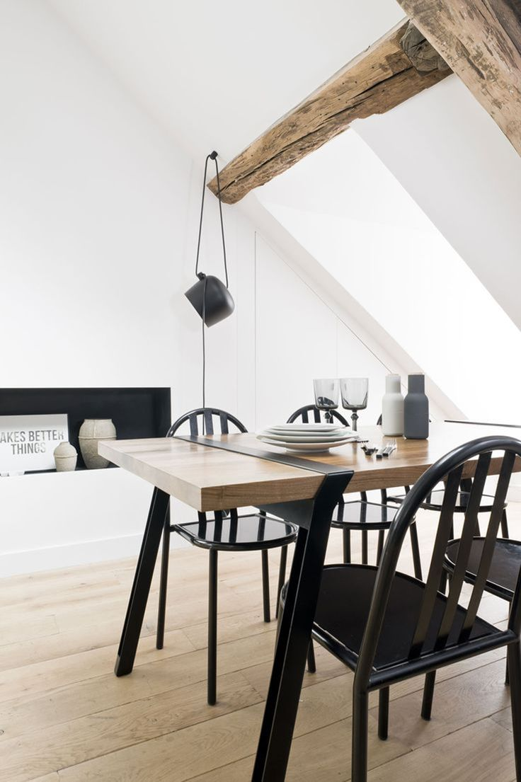 Malvern oak dining set ext table and 6 chairs oakea - Dining Room Le Marais Apartment By Margaux Beja Est Living
