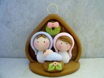 Natividad arcilla polimérica Navidad por countrycupboardclay