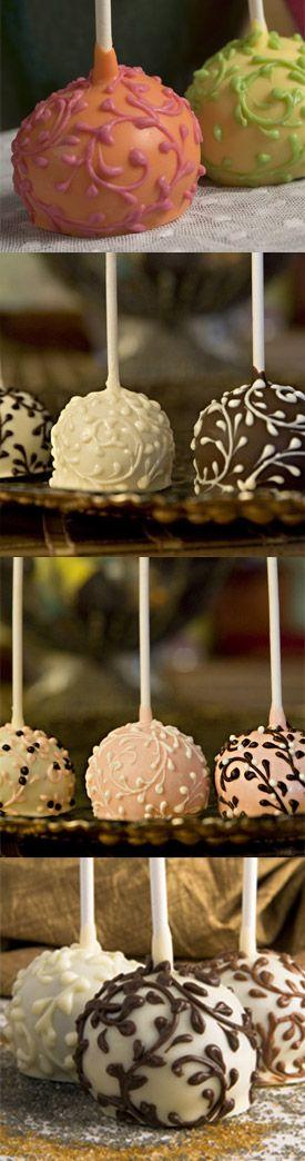 ❥ beautiful cake pops