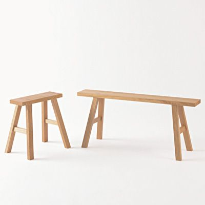 Oak Bench Small and Large. Furniture Fair! Select Items 10% off now until 12/1/2013 http://www.muji.us/web-catalog/