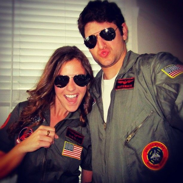 Pin for Later: 120+ Easy Couples Costumes You Can DIY in No Time Goose and Maverick From Top Gun
