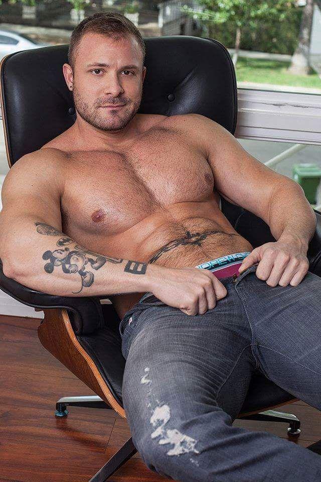 Pierced male pornstar