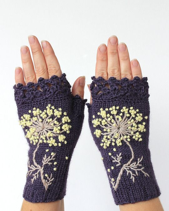 Fingerless gloves by nbGlovesAndMittens on Etsy