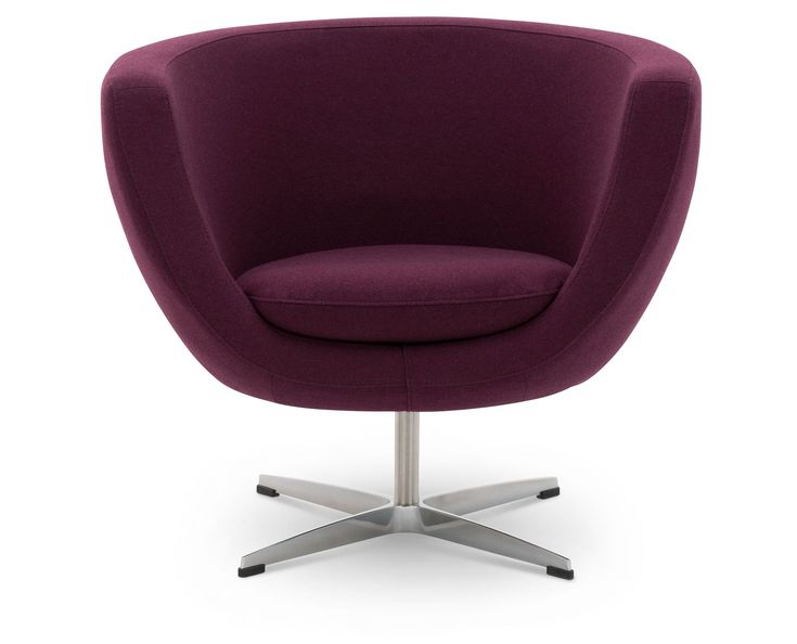 Tub Chair by EQ3 lets you surround yourself in padded purple plush.   #ultraviolet #pantone