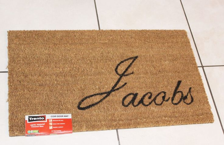 The finished product: your own personalised doormat