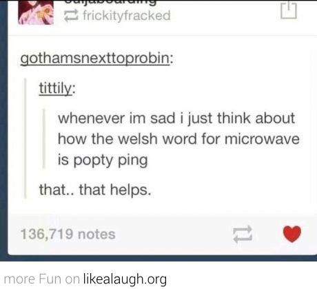Never saying microwave again.....