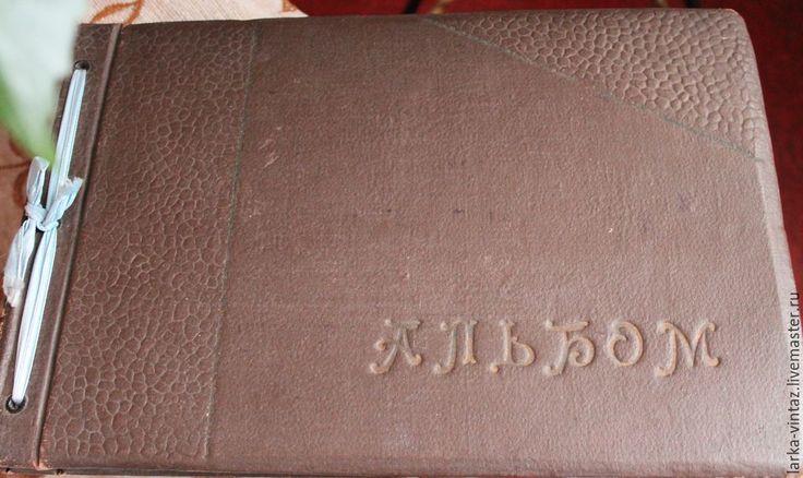 Купить Старый альбом с открытками - бордовый, винтажный фотоальбом, альбом ссср, старые советские открытки