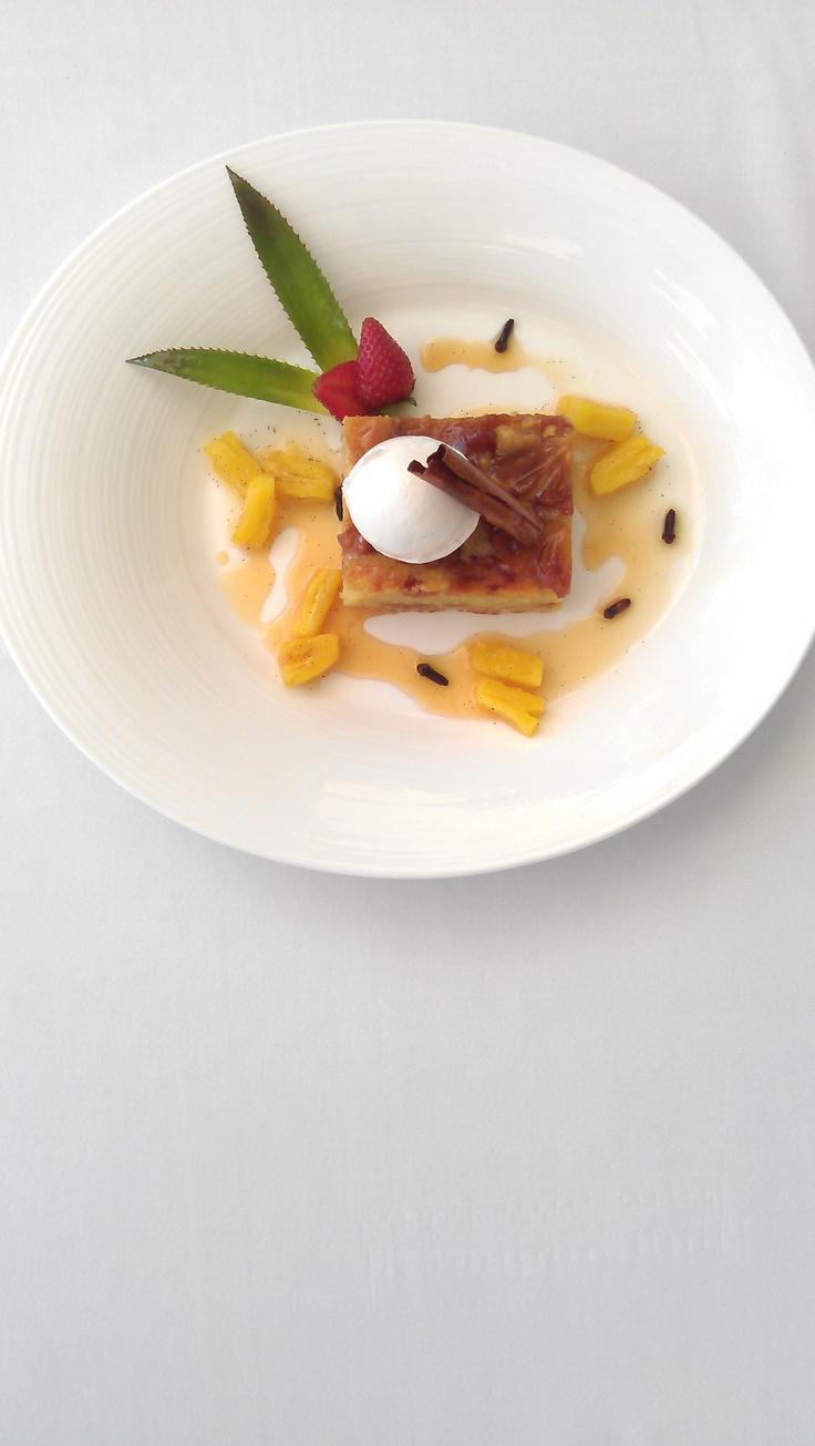 Pineapple Tart with Lemon Sorbet