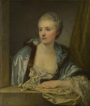 1760. Anon, French: 'Portrait of a Lady (Madame de Gléon?)'