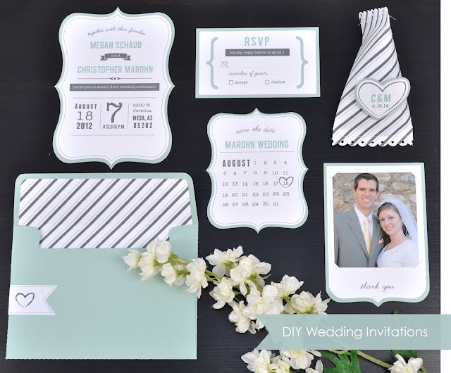 Silhouette Blog: DIY Wedding Invitations // I really need to get one of these so I can do some custom printing at home!