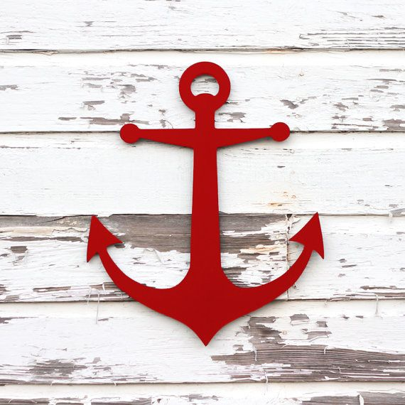 Red anchor.