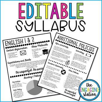 25+ parasta ideaa Pinterestissä Syllabus template - syllabus template