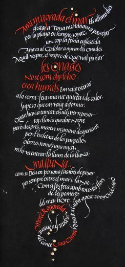 Oriol Miro: Orioles Miró, Mercè Rodoreda, 263 Photo, Calligraphy Typography, 4849, Caligrafía Creativa, Exploring Orioles, Typography Inspiration, Caligrafía Artística
