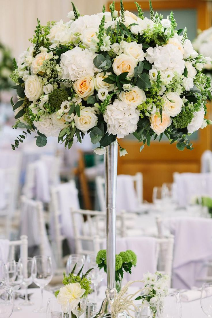 Incredible Floral Wedding Decor #BotleysMansion #WeddingVenue #Surrey #BijouRealWedding #Wedding #WeddingFlowers #Centrepiece #Luxury