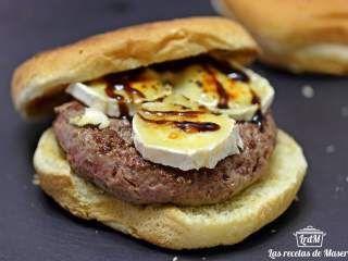 Hamburguesa de ternera con foie y queso de cabra