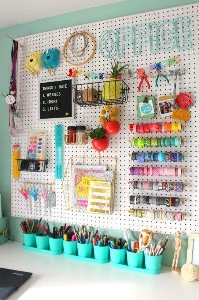 21 Spaß & Tolle Craft Room Ideas