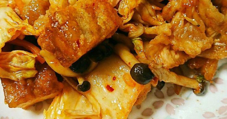 豚肉と厚揚げのキムチ炒め♪ by だいチーズ [クックパッド] 簡単おいしいみんなのレシピが258万品