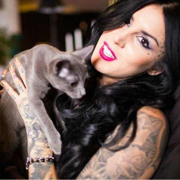 """Photo collection of celebrity Kat Von D, one of the hottest women in Hollywood. Kat started her TV career in 2005 as a star of """"Miami Ink."""" She went on to star in LA Ink at her own tattoo shop, High Voltage. She's since been through a handful of celebrity relationships and was marri..."""