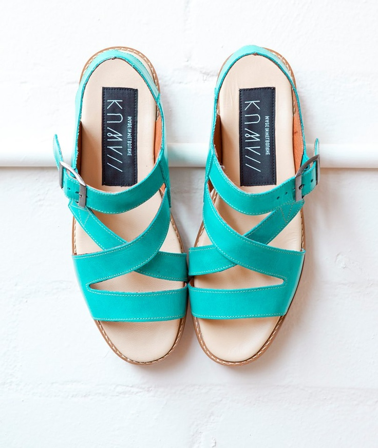Custom KUWAII cicada sandal in aqua