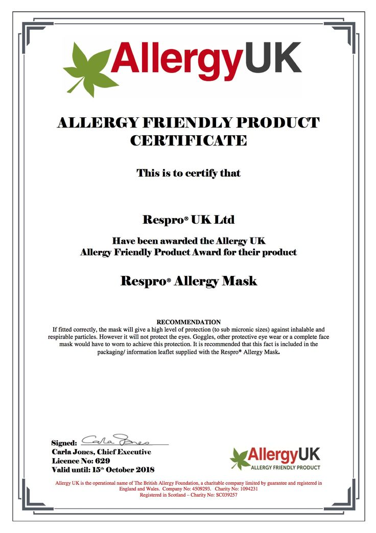 The Respro® Allergy™ Mask has been awarded Allergy Friendly Product 2018 by the leading national charity @AllergyUK1 http://respro.com/store/product/respro-allergy-mask