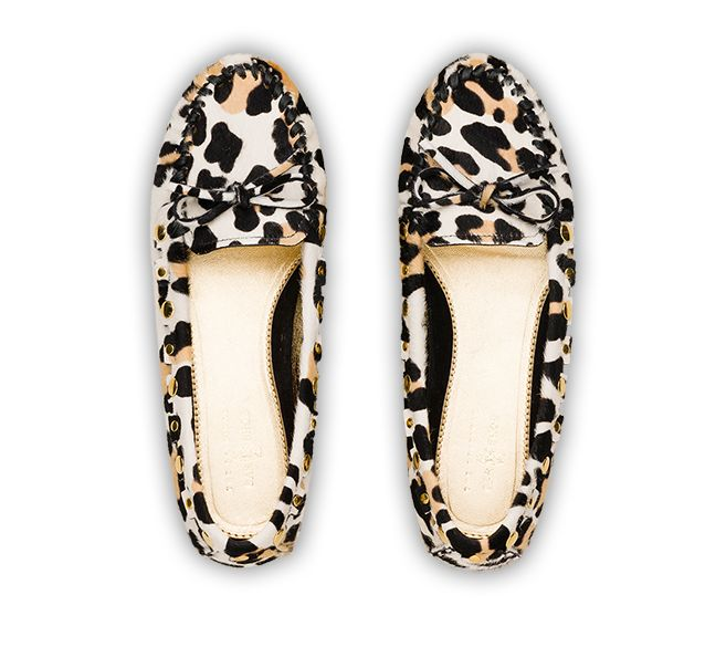 mocassini cavallino stampa leopardo