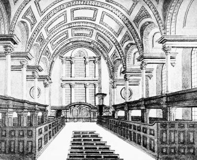 Interior of St James's Church Piccadilly London, #England. This is how it might have looked when my characters Gwen and Elliot wed in my novella, The Substitute Bride.
