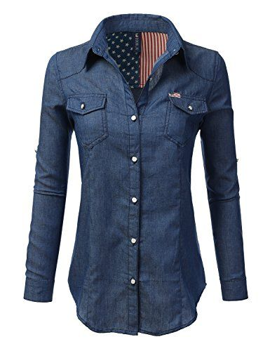 Special Offer: $22.99 amazon.com Doublju Chambray Denim Button Down ShirtsMachine Wash Cold / Do Not Bleach#AWTSTL0449 – Longsleeve Lace-Up Denim Shirt / #AWTSTL0453 & #AWTSTL0454 – Ombre Denim Button Down Shirt / #AWTSTL0450 & #AWTSTL0455 & #AWTSTL0456 &...