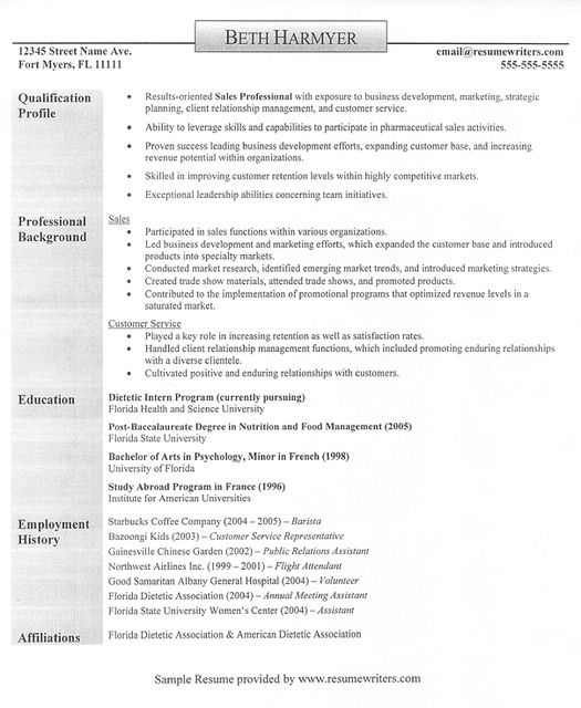 50 best Resume and Cover Letters images on Pinterest Sample - sample hotel resume