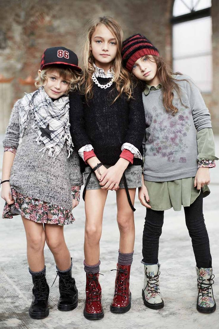 Autumn 14 - Kid Collection: Romantic Grunge. Find it out on: http://www.benetton.com/blog/2014/09/02/romantic-grunge/