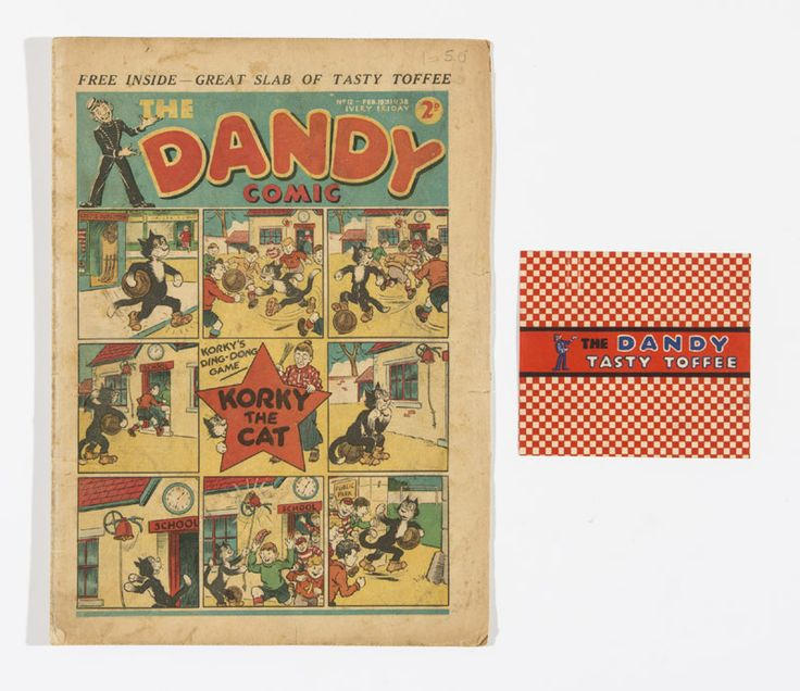 """Currently for sale over at Compal Comics (http://www.compalcomics.com/catalogue/lot15.htm), extremely rare Dandy Comic issue number 12 with it's free gift wrapper """"Dandy Tasy Toffee"""".  We seriously want this for our collection!!!"""