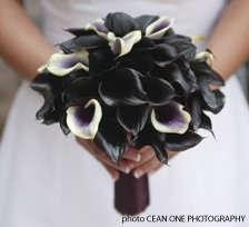 /BouquetCeanOnePhotographyBlack Wedding, Calla Lilies, Black And White, Gothic Wedding, Wedding Bouquets, Black Flower, Black White, Calla Lilly, White Bouquets