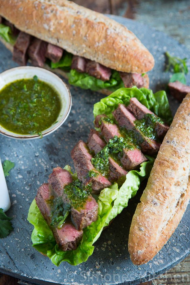 A beautiful steak sandwich - note: entrecote steak is the same as a rib eye steak (I looked it up) In French, the word entrecôte (French pronunciation: ​[ɑ̃.tʁə.kot]) denotes a premium cut of beef used for steaks. A traditional entrecôte comes from the rib area of the carcass, corresponding to the steaks known in different parts of the English-speaking world as rib, rib-eye, club, Scotch fillet, or Delmonico.