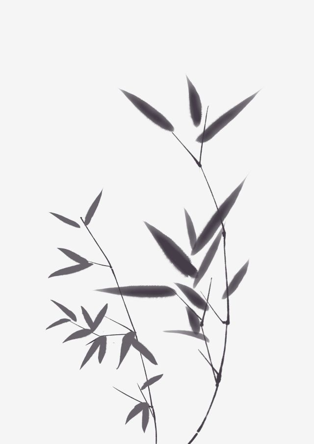 Ink Style Bamboo Leaves Illustration Beautiful Ink Bamboo Leaves Black Leaves Beautiful Ink Bamboo Leaves Cartoon Ink Bamboo Leaves Beautiful Ink Bamboo Leave Leaves Illustration Bamboo Tattoo Bamboo Leaves
