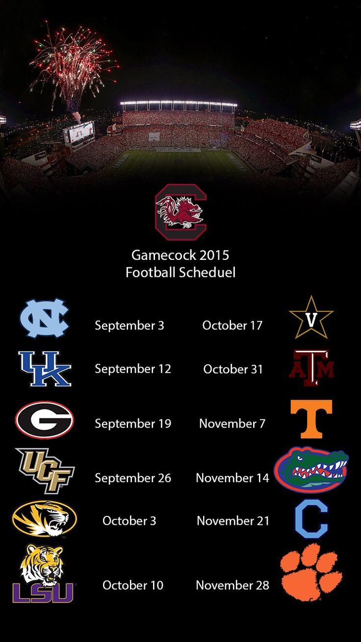 2015 South Carolina Gamecocks football schedule